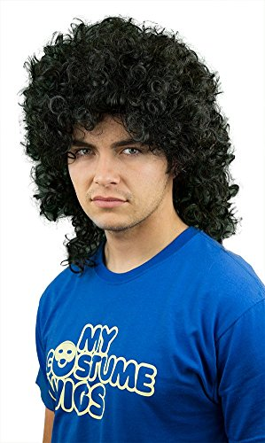 My Costume Wigs Men's Curly Rick James (Black) One Size Fits All -