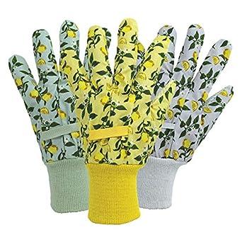 Guantes de algodón para mujer en color verde limón, amarillo, lila ...