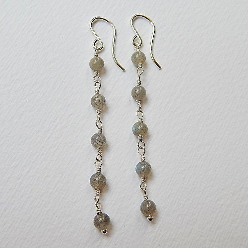 Labradorite Earrings in Sterling Silver