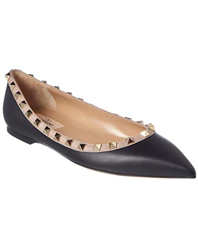 87795441e3e6e Image Unavailable. Image not available for. Color: VALENTINO Rockstud  Leather Ballet Flat, 39, Black