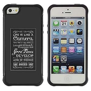 Suave TPU GEL Carcasa Funda Silicona Blando Estuche Caso de protección (para) Apple Iphone 5 / 5S / CECELL Phone case / / good times inspiring vintage grey poster /