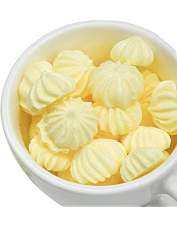 OUZ123 Handmade Meringues Christmas Candy Lemon Taste 蛋白糖 柠檬味 33g/1.16oz