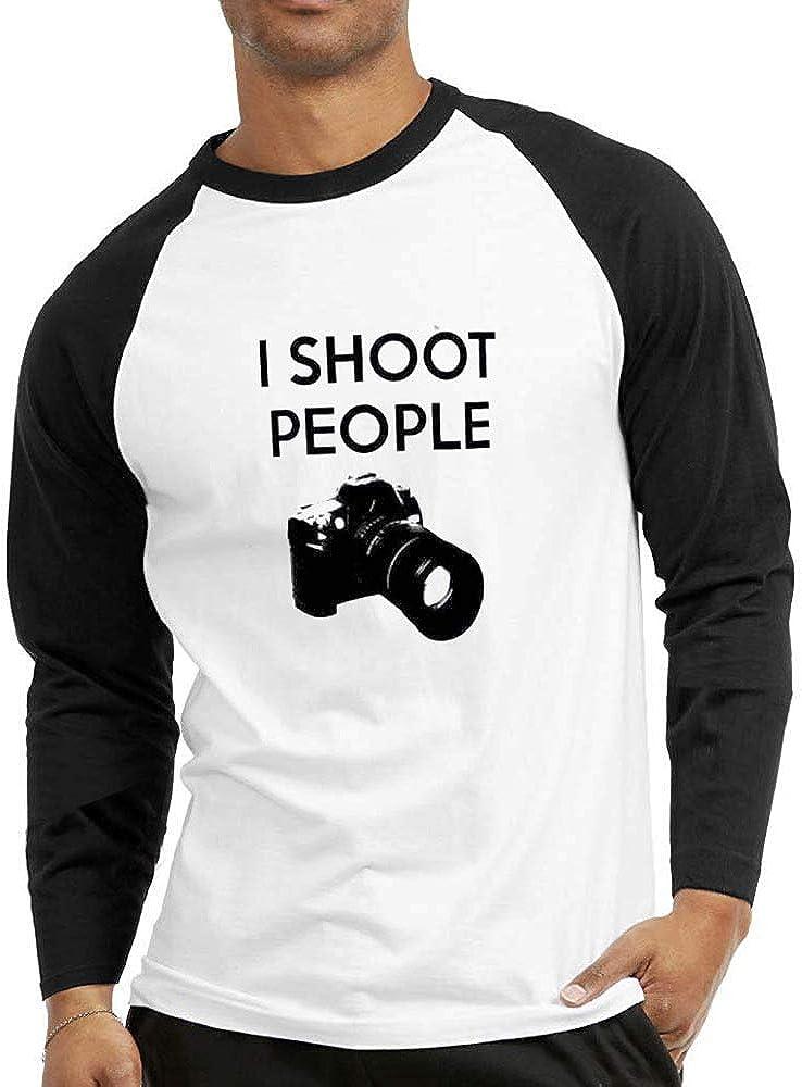 Camiseta raglán de dos tonos para hombre, con texto en inglés