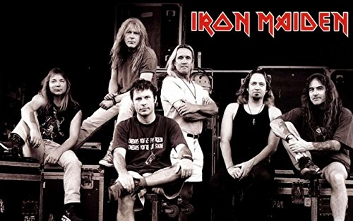 Get Motivation Iron Maiden heavy metal music band Bruce Dickinson, Steve Harris, Paul Di'Anno, Adrian Smith 12 x 18 inch Poster