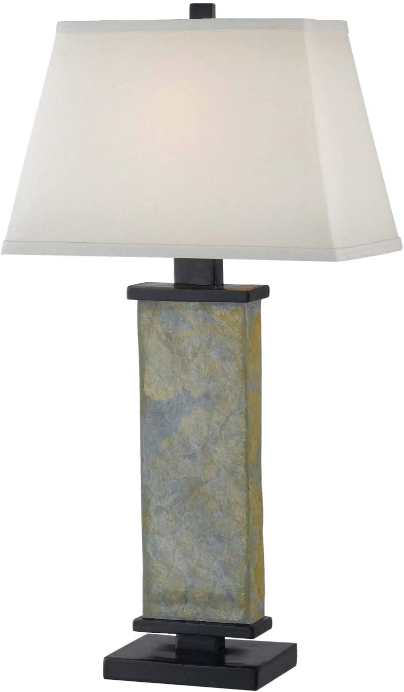 Kenroy Home 21037SL Hanover Table Lamp, 29 Inch Height, 15 Inch Width, 9.5 Inch Length, Natural Green Slate