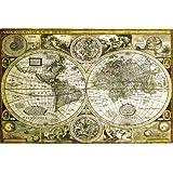 """Poster Carte du Monde """"ancienne"""" (91,5cm x 61cm)"""