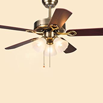 Ventilador ventilador de techo se enciende las luces del ...