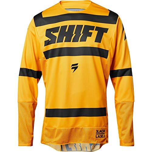 (Jersey Shift 3Lack Strike Yellow XL)