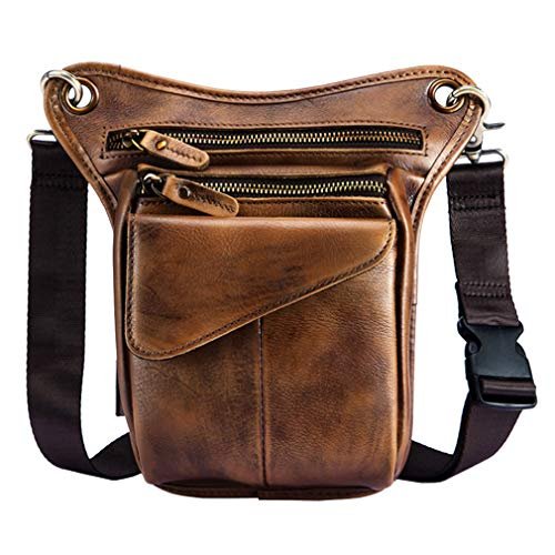 Thigh Drop Leg Bag for Men Fanny Pack Tactical Military Motorcycle Rider Multi-Pocket Waist Bags Mens Travel Hiking Climbing Cycling Outdoors