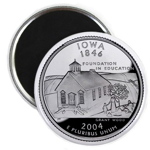 Iowa State Quarter Mint Image 2.25 inch Fridge Magnet