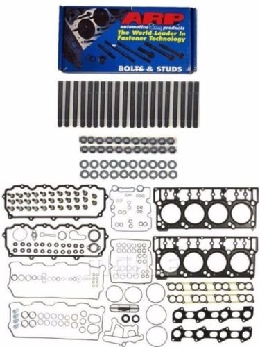 ARP Head Stud Kit & OEM Style 18mm Cylinder Head Gasket Set For 2003-2006 Ford Powerstroke Diesel 6.0L F250 F350 F450 F550 - Bundle