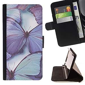 Momo Phone Case / Flip Funda de Cuero Case Cover - Blue Spring Nature - Apple Iphone 5 / 5S