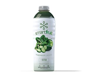 Smartfruit Harvest Greens + Detox, 100% Real Fruit Purée, Non-GMO, No Additives, Vegan - 48 Fl. Oz