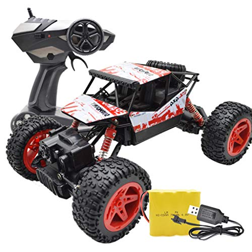 ar High-Speed Off Road 2.4 GHz 4WD Remote Control 1/18 RC Trucks for Kids Red ()