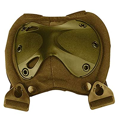 YASSUN Kneepad Elbow Suit, Durable Well-Knit for Field Operations Security Outdoor Sports Protective Tools 4 Piece Set, Brown: Office Products