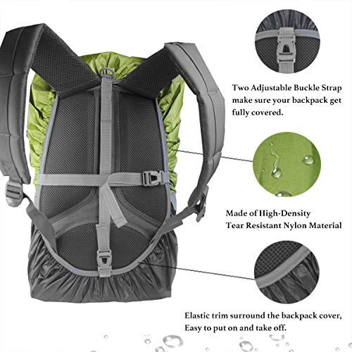 Frelaxy Backpack Rain Cover 100% Waterproof Backpack Cover, Upgraded Anti-Slip Cross Buckle Strap & Rainproof Storage Pouch & Silver Coated, for Hiking (Black, S (for 15L-25L Backpack)) by Frelaxy (Image #4)