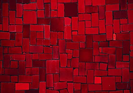 murando Papier peint intiss/é 400x280 cm D/écoration Murale XXL Poster Tableaux Muraux Tapisserie Photo Trompe loeil Abstraction g/éom/étrique rouge f-A-0533-a-a