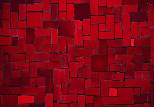 Murando - - - Fototapete 400x280 cm - Vlies Tapete - Moderne Wanddeko - Design Tapete - Wandtapete - Wand Dekoration - Abstrakt geometrisch rot f-A-0533-a-a B01LW6G4O5 Wandtattoos & Wandbilder 8f0d51