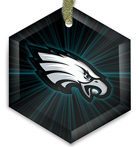 (Philadelphia Eagles NFL 17 Cyrstal Christmas Ornament)