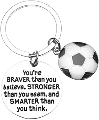 Soccer Charm Keychain - Inspirational Gift for Soccer Players & Fans