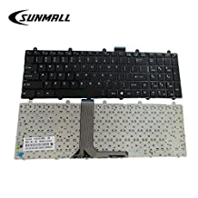 SUNMALL Laptop Keyboard Replacement With Frame For MSI GE60 GE70 GT60 GT70 16GF 16GC 16F4 16F3 16FK 1762 1763 V123322BK1 S1N-3EUS281 No Backlit US Layout
