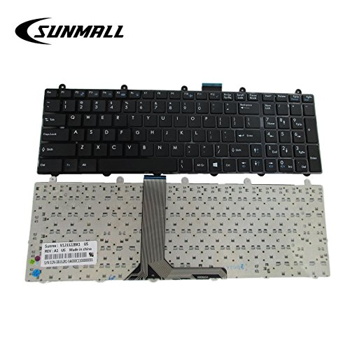 ard Replacement with Frame for MSI GE60 GE70 GT60 GT70 16GF 16GC 16F4 16F3 16FK 1762 1763 V123322BK1 S1N-3EUS281 No Backlit US Layout ()