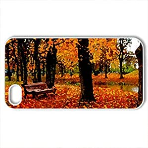 Autumn park - Case Cover for iPhone 4 and 4s (Forests Series, Watercolor style, White)