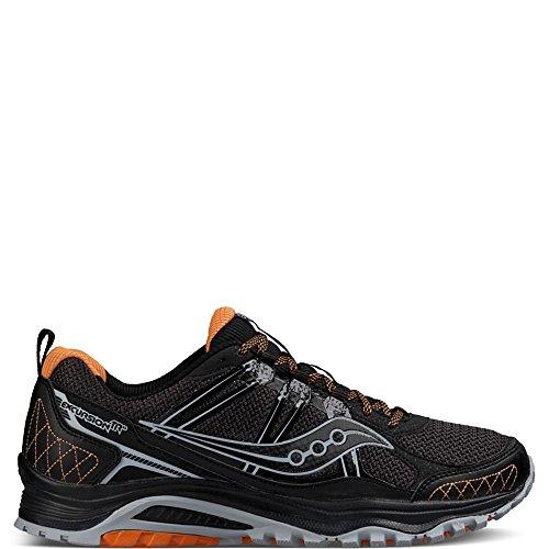 Saucony Men's Grid Excursion tr10 Trail Runner, Grey/Black/Orange, 9 M US