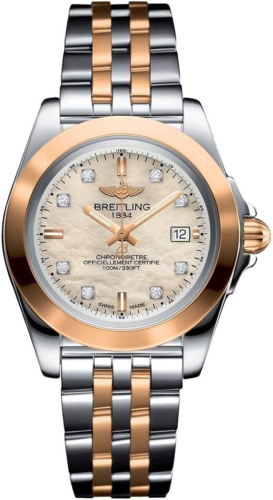 Breitling C7133012/A803-792C - Reloj de pulsera para mujer, diseño de perlas y diamantes