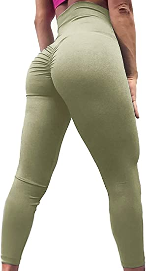 Women Butt Lift Push Up Yoga Pants Fitness Gym Leggings Sports Scrunch Trousers