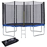 Giantex 12FT Trampoline Combo Bounce Jump Safety Enclosure Net W/Spring Pad Ladder (12FT)