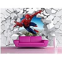 Spiderman Behang Custom 3D Foto Behang Super Hero Muurschildering Jongens Slaapkamer Woonkamer Kwekerij School Designer…