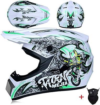 OLEEKA Casco de Moto Casco de Motocross Equipo de protección para ...