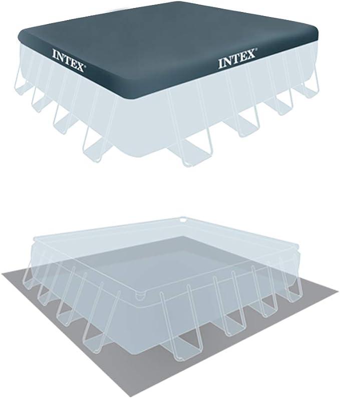 Intex 26764NP Piscina desmontable cuadrada, on depuradora, 427 x ...