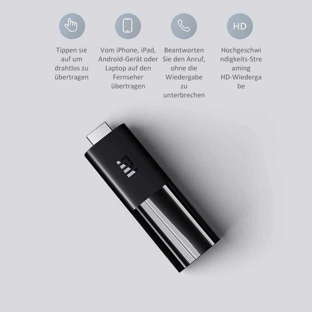 Xiaomi Cl/é TV sans prise en charge par c/âble commande vocale Dolby prise en charge des effets sonores DTS La plupart des appareils Mi Smart Home sont noirs.