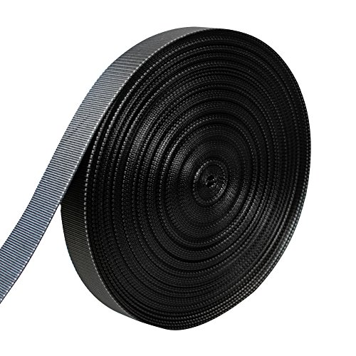 AMP 5000lbs Rated Heavy Duty Mil Spec Military Grade Nylon Fastening Webbing Strap 2'' Wide 50 Yards Black/White by AMP