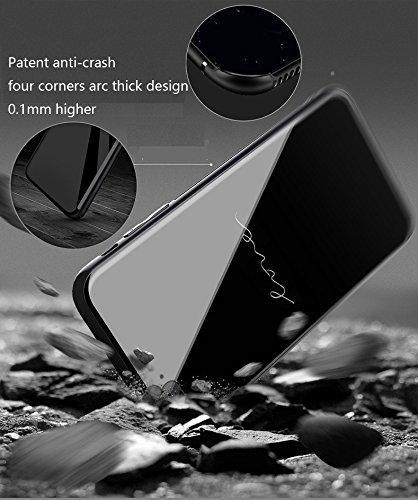 Funda iPhone X, estuche de vidrio templado de nuevo dise?o con 9H + superdureza, resistencia al impacto fuerte, estuche delgadoPhone X 2017 case cover Admite carga inalámbrica 30