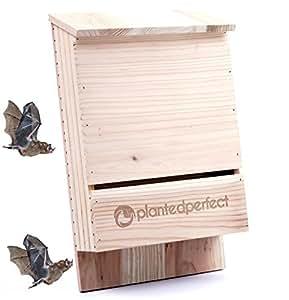 Casita de murciélagos para control de plagas, refugio para murciélagos que protege el hogar contra mosquitos e insectos, cajas de madera con doble cámara para murciélagos, fabricada para ser duradera, puede albergar hasta 360 murciélagos, repele las plagas del jardín