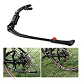 Daphot Store Universal Adjustable Aluminum Alloy MTB Road Bike Bicycle Side Kickstand Kick Stand (Black) (Model 1)