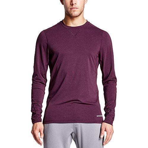 Mission Men's VaporActive Amplified Merino Long Sleeve Shirt, Potent Purple, X-Large (Blend Potent)