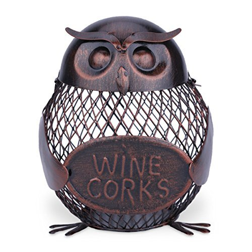 Iron Owl Mesh Wine Cork Container
