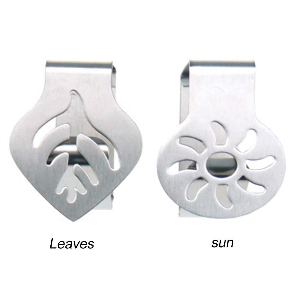 4 pi/èces la f/ête de mariage leaf nappe en acier inoxydable pique-nique Lot de 4 pinces d/écoratives pour nappe la cuisine pour la maison