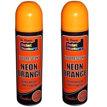 2 x naranja neón fluorescentes Spray de pintura profesional ...