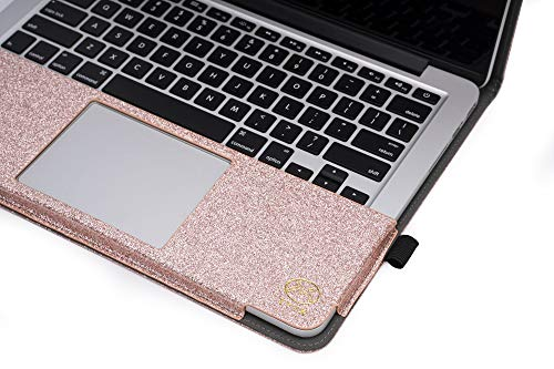 """TYTX MacBook Air Leather Case 13 Inch 2020 2019 2018 (A2337 A2179 A1932) Laptop Sleeve Protective Folio Book Cover (New MacBook Air 13"""", Shining Rose Gold)"""