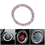 Automotive : Bling Car Decor Crystal Rhinestone Car Bling Ring Emblem Sticker, Bling Car Accessories For Auto Start Engine Ignition Button Key & Knobs, Bling For Car Interior, Unique Gift For Women (Pink)