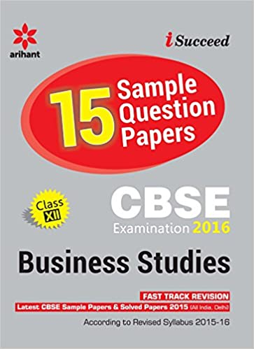 Cbse 15 sample paper business studies for class 12th old edition cbse 15 sample paper business studies for class 12th old edition amazon akanksha sharma books malvernweather Choice Image