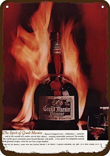 onepicebest 1964 Grand Marnier Cognac Liqueur Vintage-Look Replica Metal Sign 7