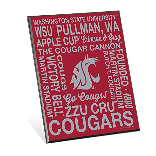 NCAA Washington State Cougars Phrase Wood Easel Sign, 8 x 10-Inch