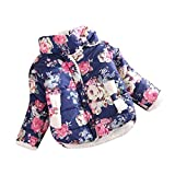 for 1-4 Years, Internet Kids Child Girls Clothes Flowers Coat Jackets Top Waistcoat Coat (3T, Navy)