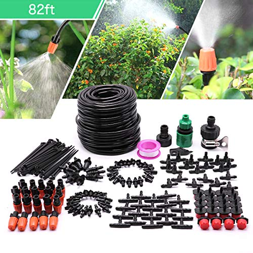Drip Irrigation Kit,Garden Irrigation System with 82ft 1/4